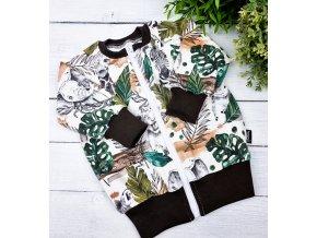 Mikina basic zipper ,,Zoo,,