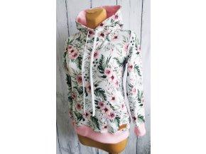 Mikina s kapucí dámská ,,RosAntic,, Baby Pink