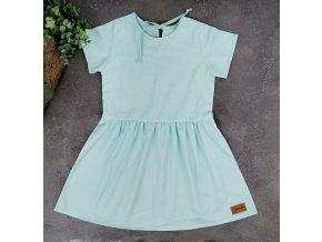 Princess šaty ,,Mentol,, plátěné