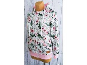 Mikina dámská ,,RosAntic,, zipper baby pink