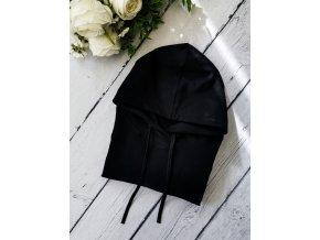 Mikina s kapucí dámská ,,Black,, vel.42 sklad