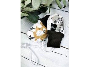 Bezpalcové zateplené rukavice ,,BeDeer,, Brown