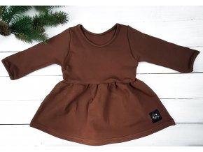 Princess šaty ,,BROWN,, dlouhý rukáv vel.68 sklad š