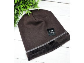 Zateplená čepice ,, Brown ,,