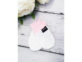 Kojenecké rukavičky proti poškrábání ,,Snow,, Baby Pink