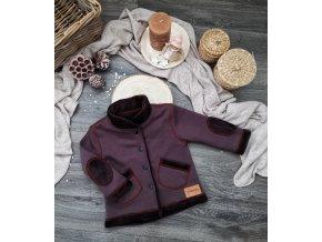 Kabátek zateplený ,,  Brown,, vel.62-68 sklad