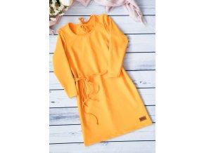 Šaty/tunika dámská ,,YOLK,, dlouhý rukáv vel.38 sklad