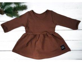 PRINCESS ŠATY brown /dlouhý rukáv