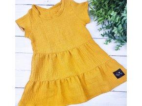 Boho šaty Mustard mušelín