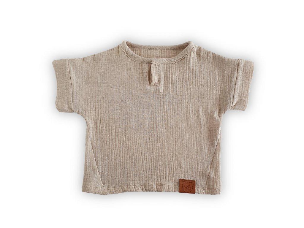 Krémové tričko z organické bavlny