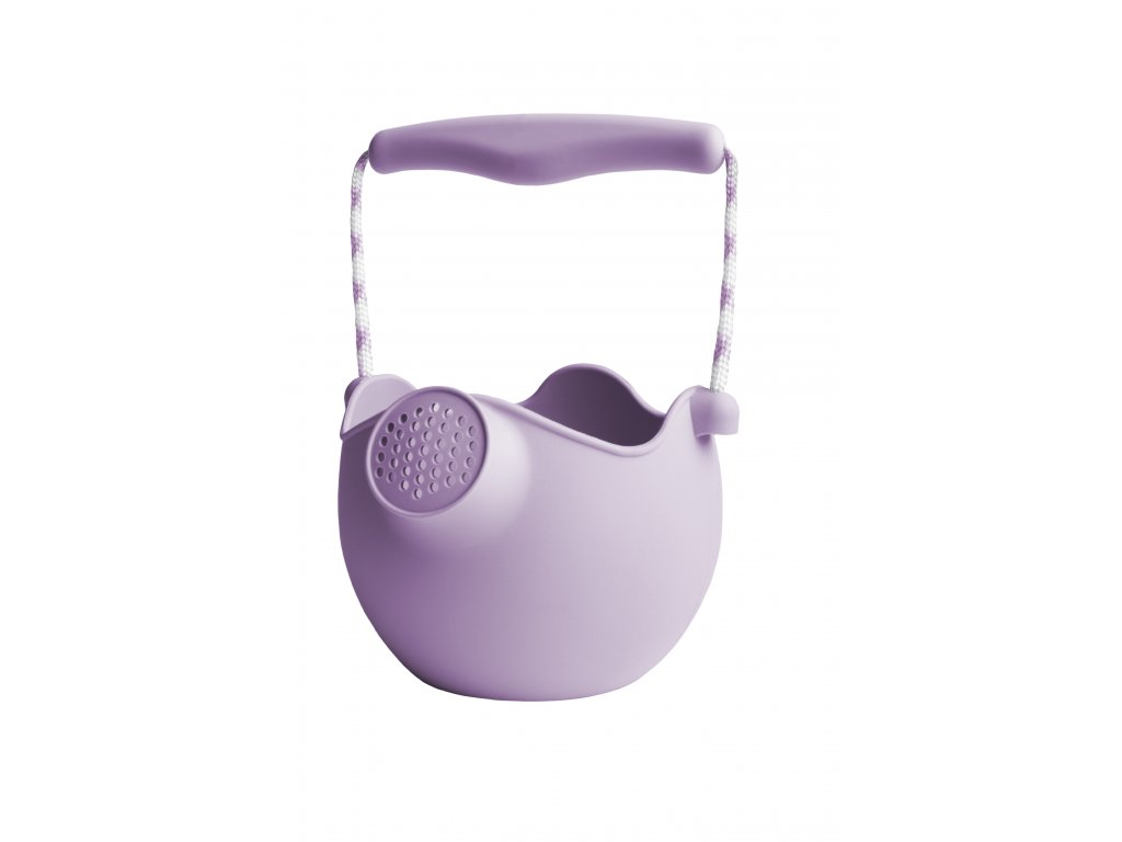 Silikonový kbelík/konvička - světle fialová barva