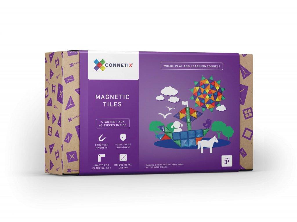 connetix magnetic tiles starter pack 62 pcs
