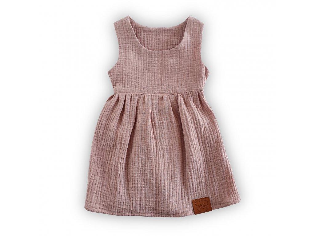 Světlé růžové šaty z organické bavlny