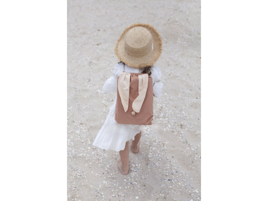 Babai rabbit cotton back pack beige