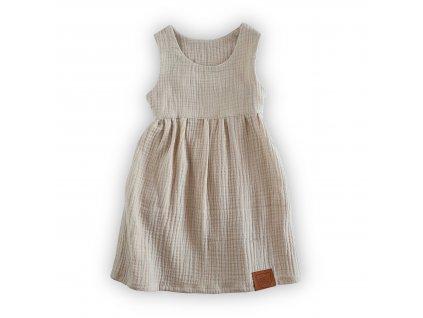 Krémové šaty z organické bavlny