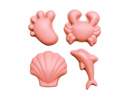 silikonowe foremki do piasku 4 szt scrunch koralowy