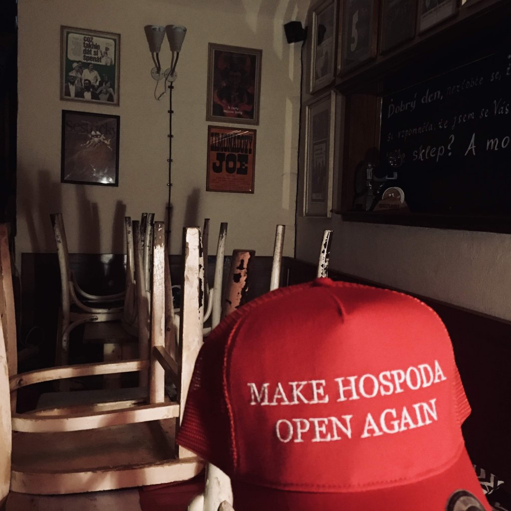 Make Hospoda Open Again - Trucker Kšiltovka