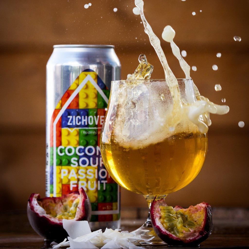 Zichovec Coconut Sour Passion Fruit 12° CAN 0,5l