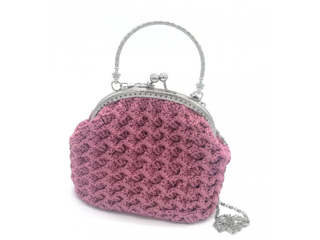 kabelka ružová