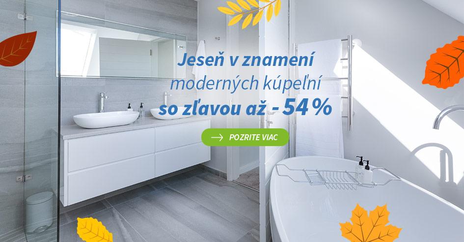 Jesenné zľavy na kúpeľne so zľavou až -54 %
