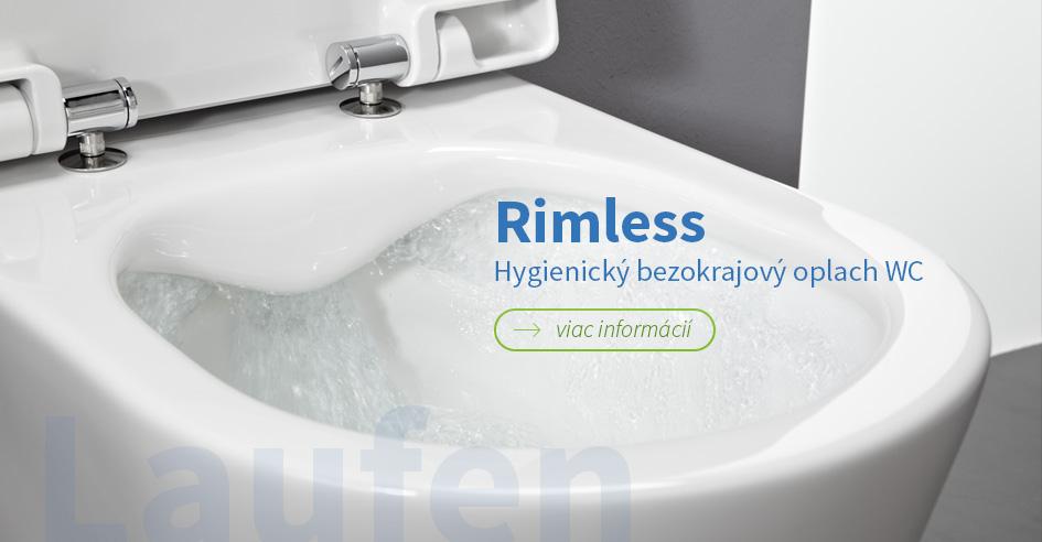 Laufen Rimless hygienický bezokrajový oplach WC