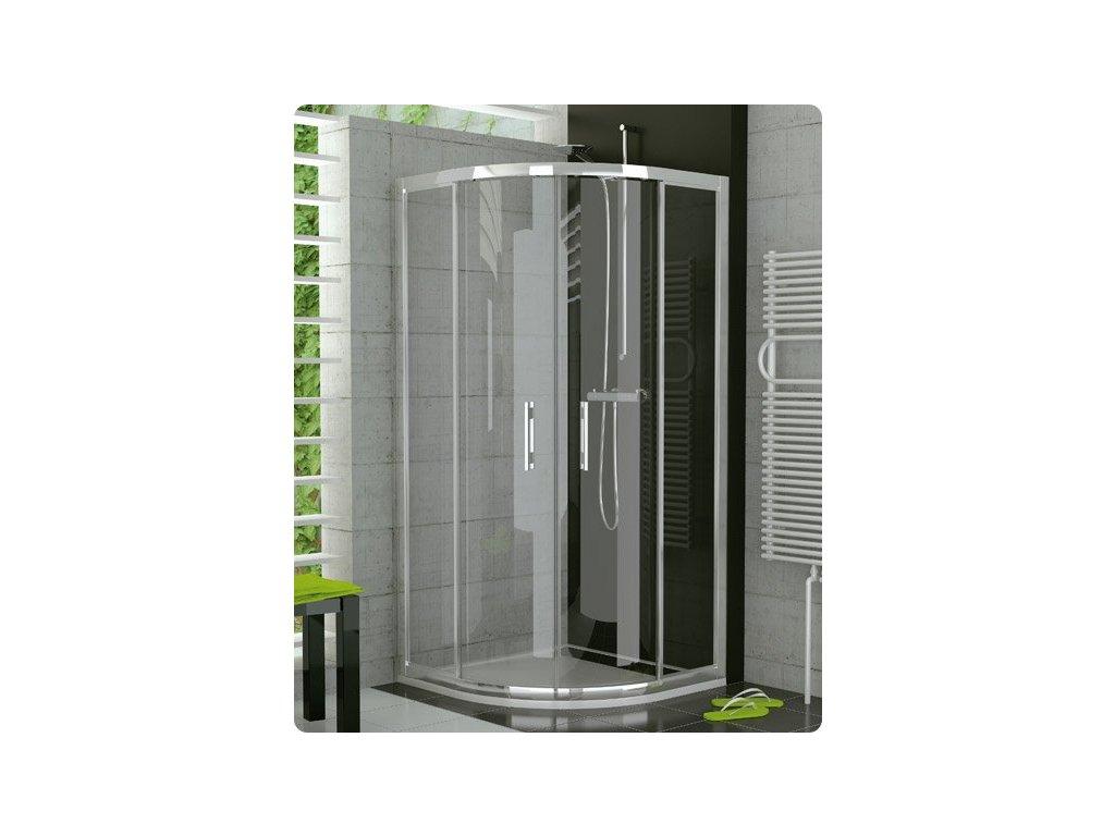 Sanwiss Ronal Top-Line - oblý sprchový kút 80 cm s dvojdielnymi dverami TOPR 800