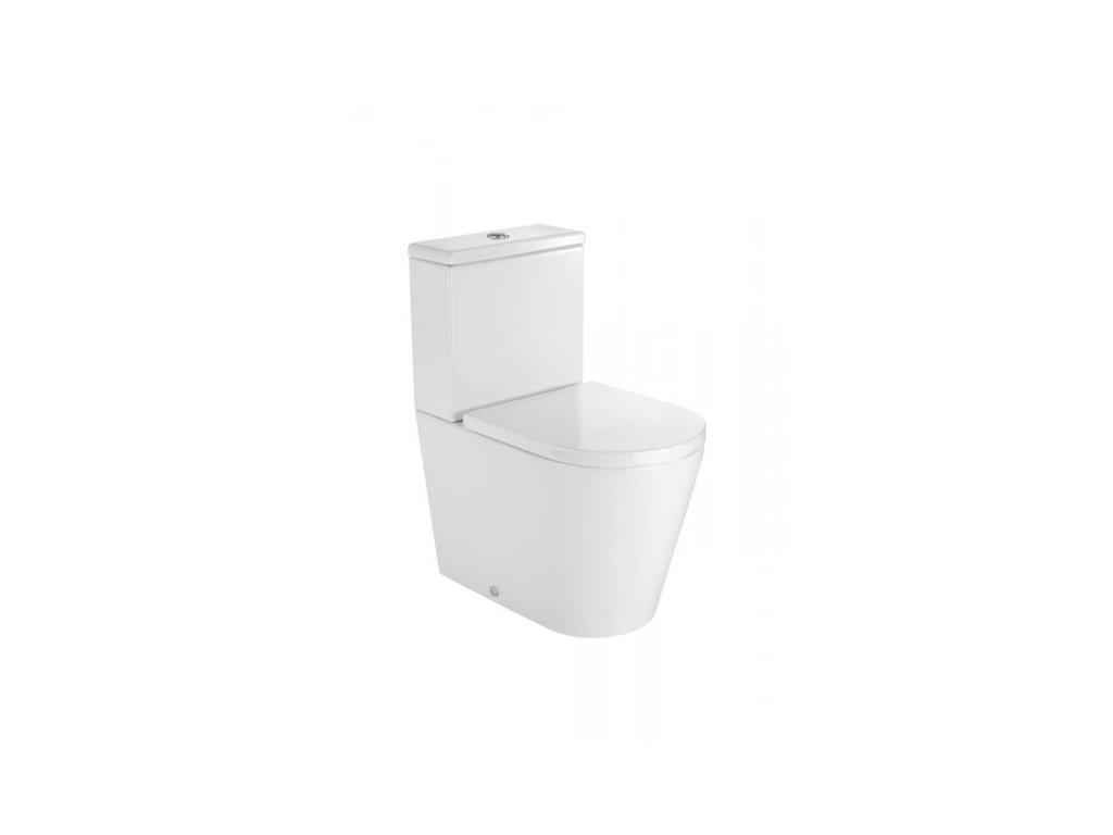 Roca Compact Inspira - set - stojaca WC misa + nádržka + spomaľovacie sedadlo