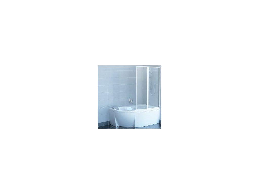 Ravak Rosa - VSK 2 - L/P 150 vaňová zástena  transparentné sklo