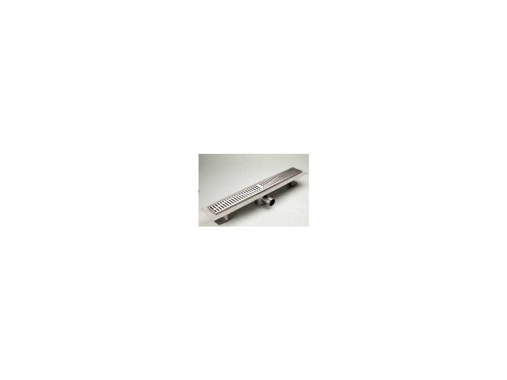 ACO Classic - sprchový podlahový žľab 90 s prírubou a mriežkou quadrato 406278
