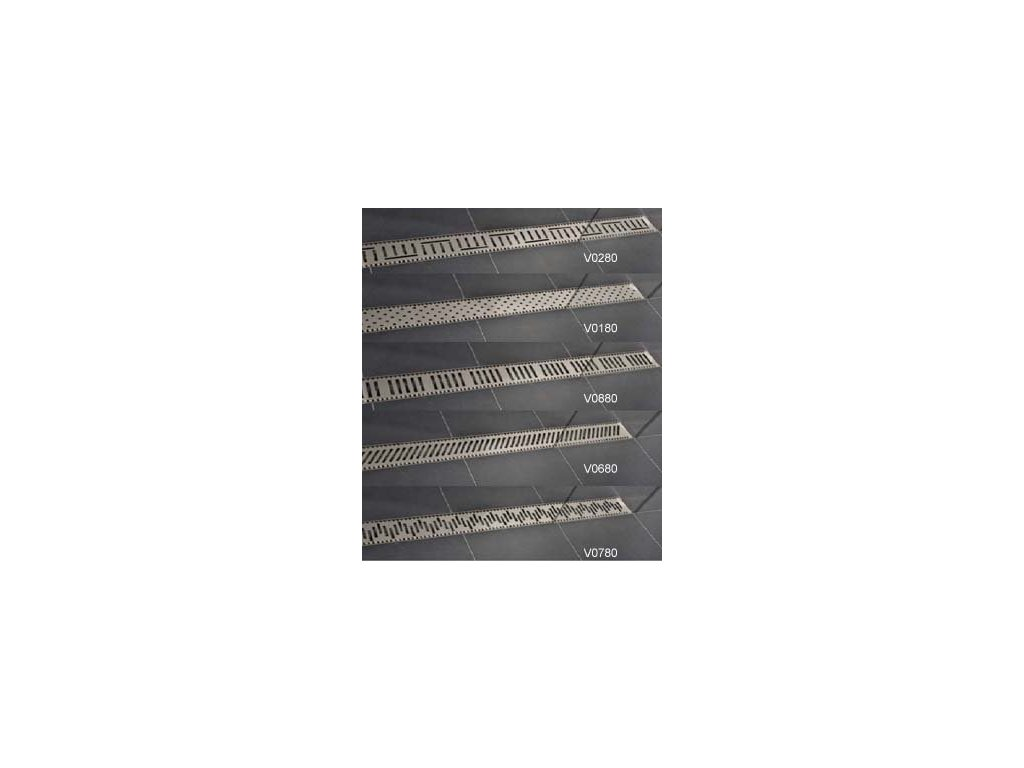 Viva Classic - 100 cm nerezová sprchová mriežka pre žľaby Classic a Lift
