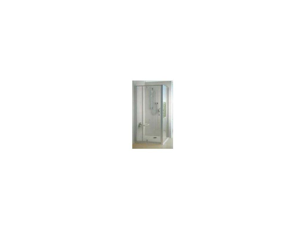 Ravak PPS - 80 bočná pevná stena, Satin,  transparentné sklo
