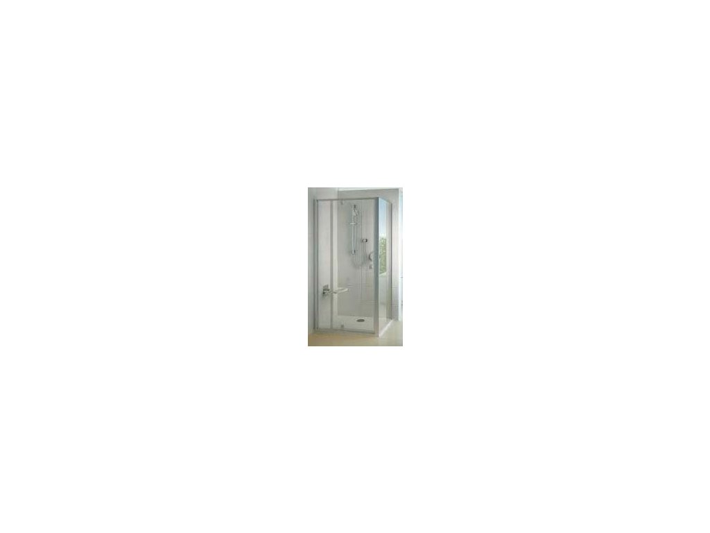 Ravak PPS - 90 bočná pevná stena, Satin,  transparentné sklo