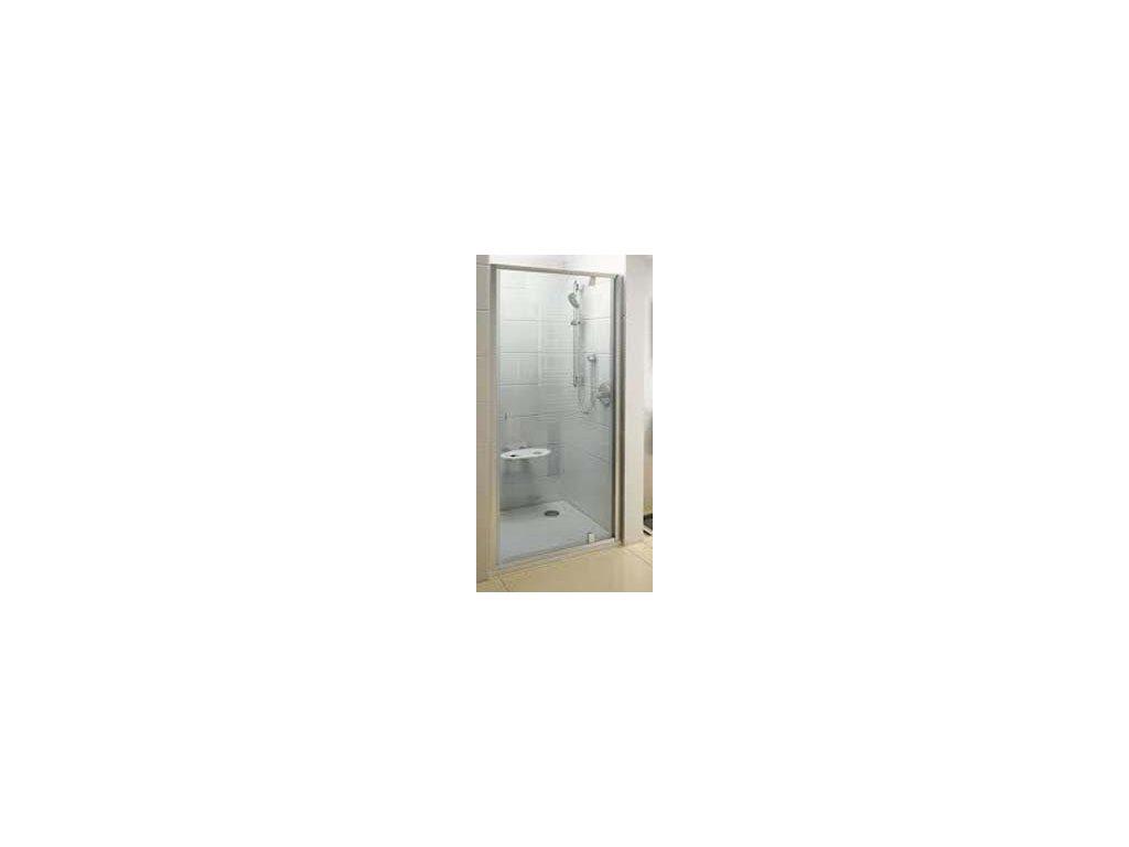 Ravak PDOP1 - 80 sprchové dvere, rámu biela - chróm,  transparentné sklo