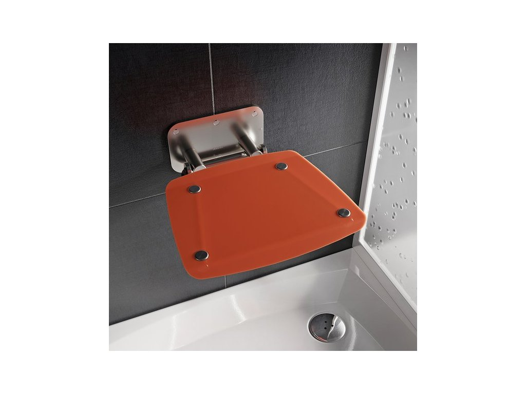 Ravak Ovo - orange - sprchové sedadlo