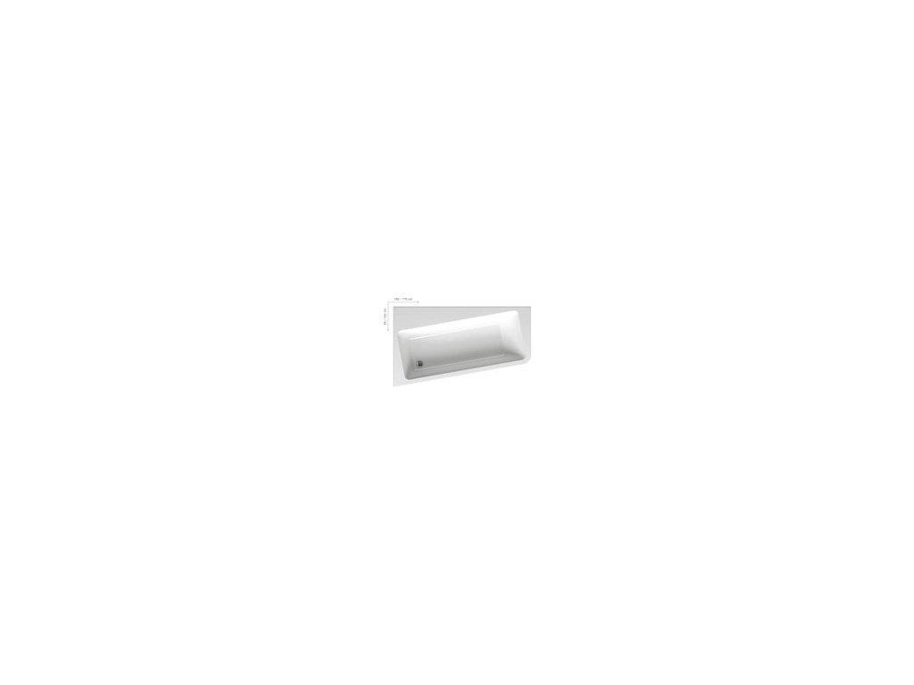 Ravak 10 - akrylátová rohová vaňa 170 x 100 cm