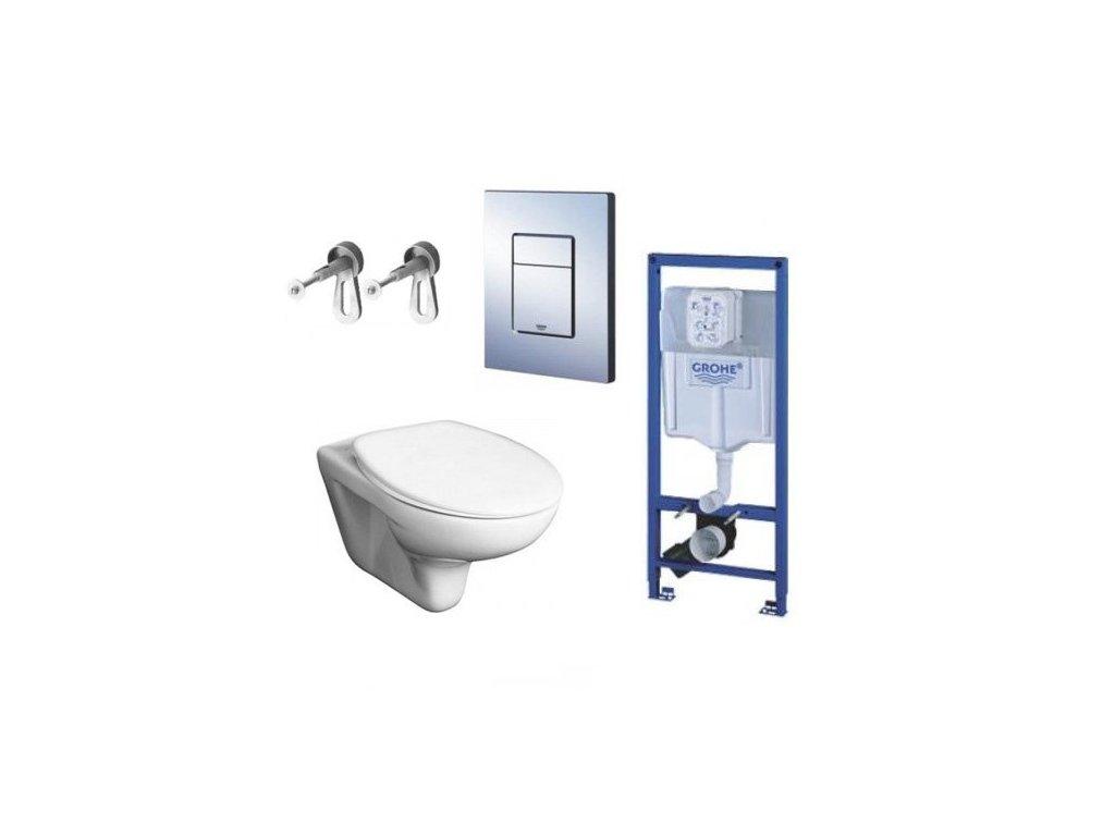 Grohe Rapid SL 38528 podomietková nádržka + úchyty+ tlačidlo + Jika Zeta závesné WC a sedadlo