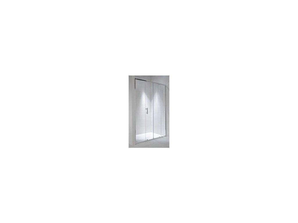 Jika Cubito Pure sprchové dvere L/P strieborný lesklý profil sklo s dekorom arctic kupelnashop.sk