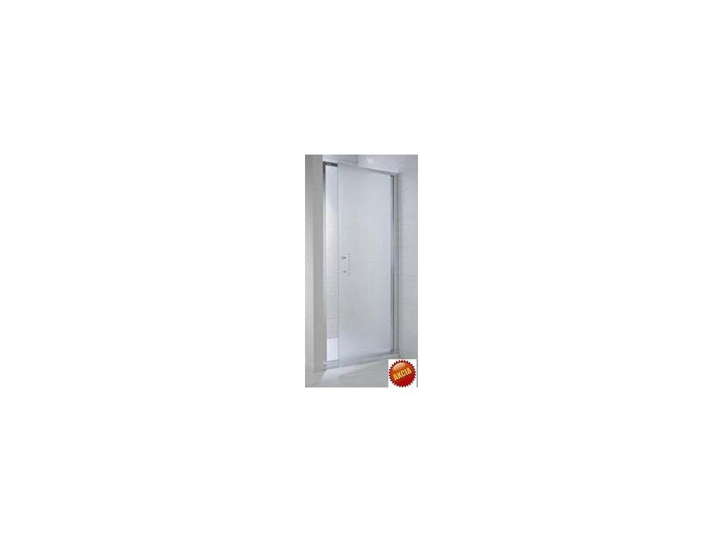 Jika Cubito Pure jednokrídlové sprchové dvere L/P strieborný lesklý profil sklo s dekorom arctic kupelnashop.sk