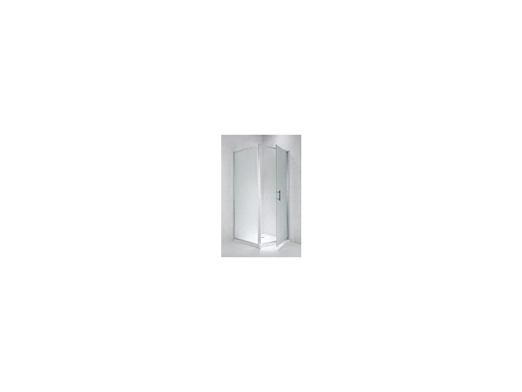 Jika Cubito Pure bočná stena strieborný lesklý profil sklo s dekorom arctic kupelnashop.sk