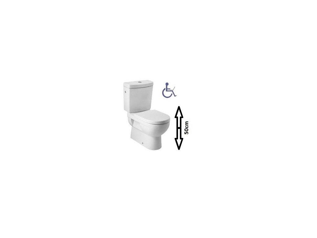 Jika Cubito stojace wc zvýšená wc misa odpad VARIO bez nádržky kupelnashop.sk