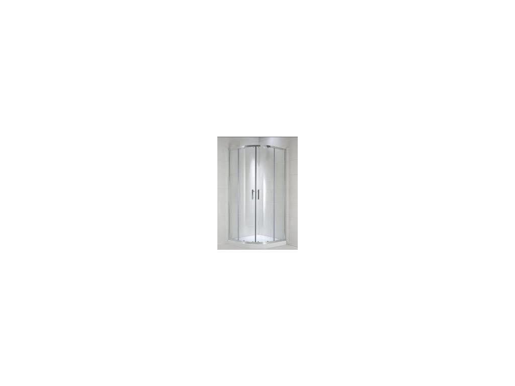 Jika Cubito Pure oblý -dielny sprchový kút strieborný lesklý profil sklo s dekorom arctic kupelnashop.sk
