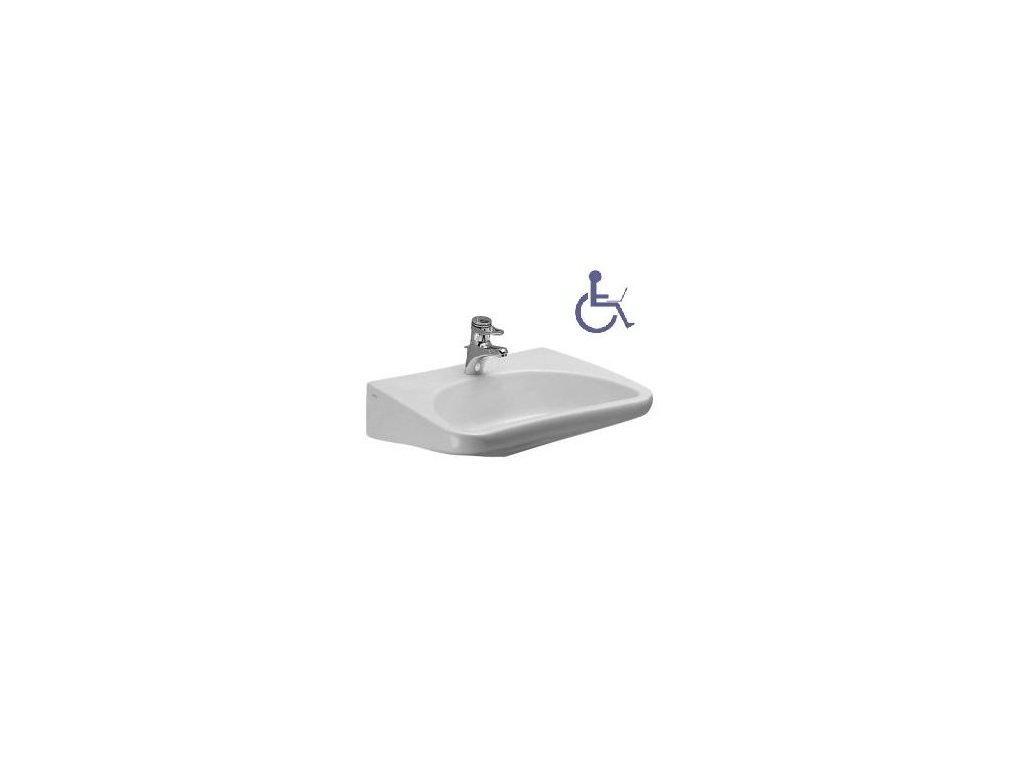 Laufen Rehab - zdravotné umývadlo 66 x 55 cm 8.1060.3.104.1