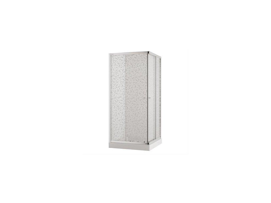 Jika Cubito rohový sprchový kút profil strieborný lesklý sklo s kvetinovým dekorom kupelnashop.sk