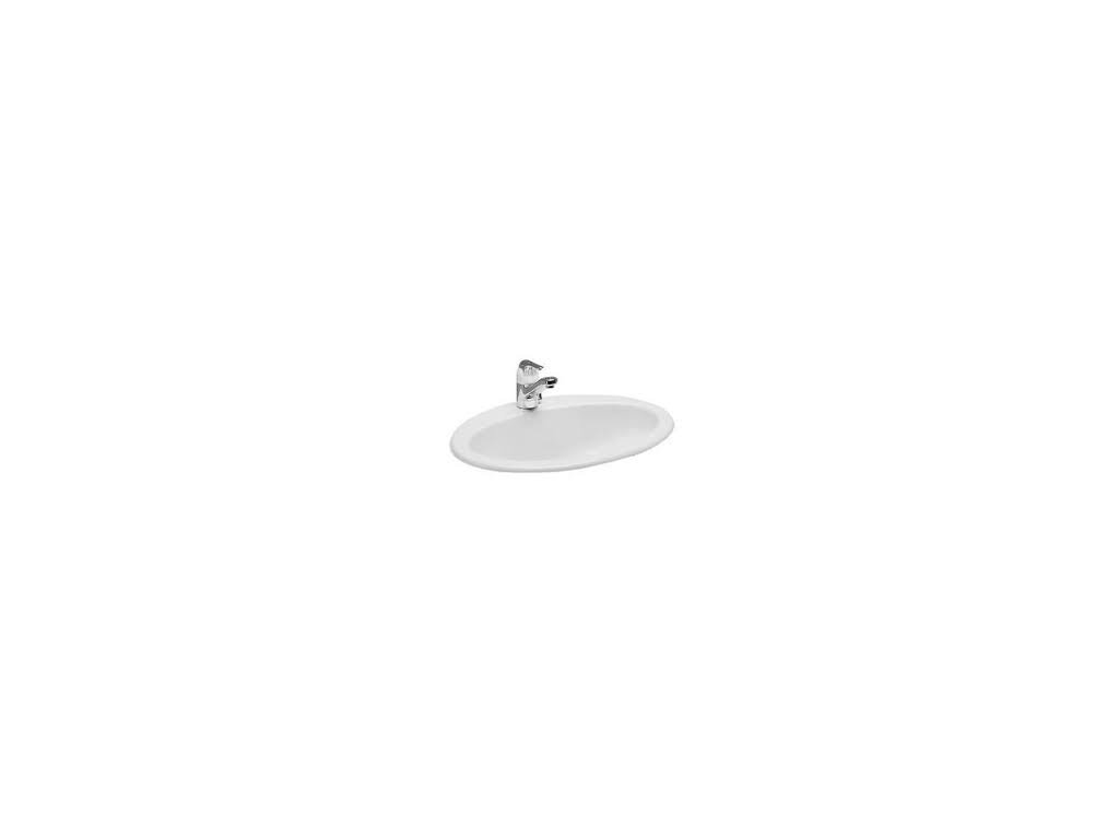 Laufen Indova - zápustné umývadlo 52 x 48,5 cm s otvorom pre batériu 8.1139.3
