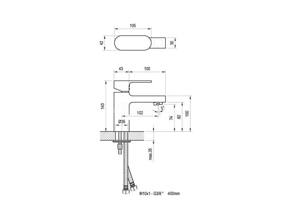 Ravak Chrome - umývadlová vodovodná batéria CR 012.00