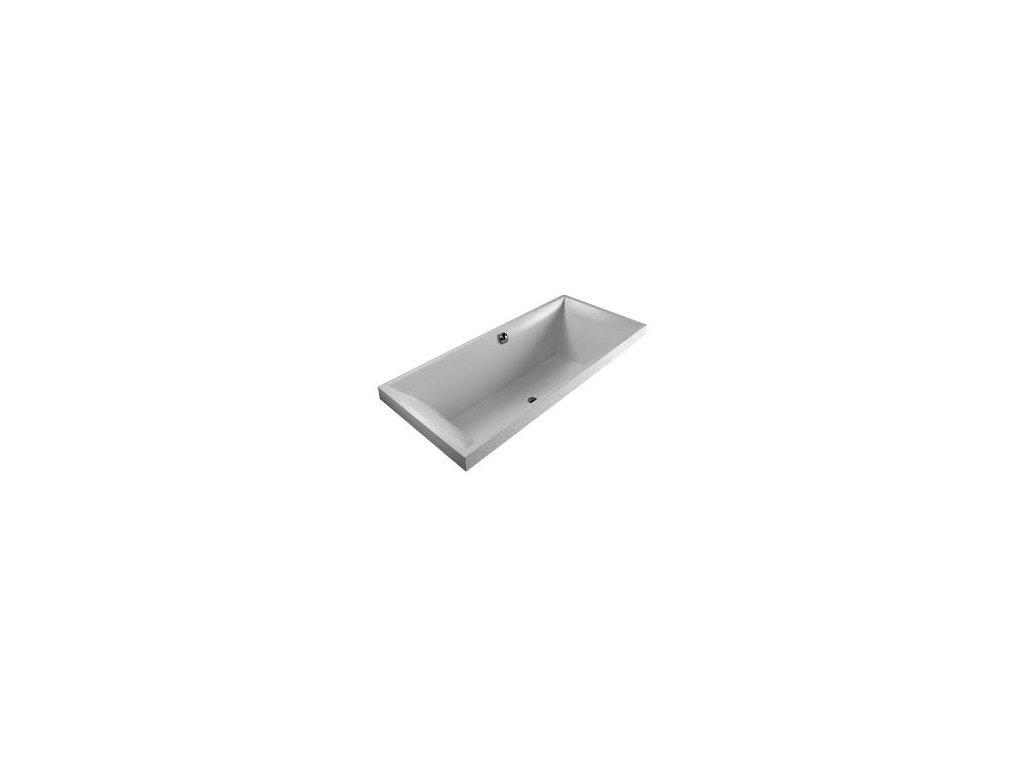Villeroy & Boch Square Edge - vaňa Quaryl 180 x 80 cm s nožičkami BQ180SQR2V01
