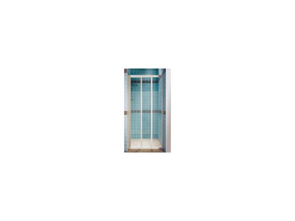 Ravak ASDP3 - 90 cm - trojdielne posuvné sprchové dvere - číre sklo