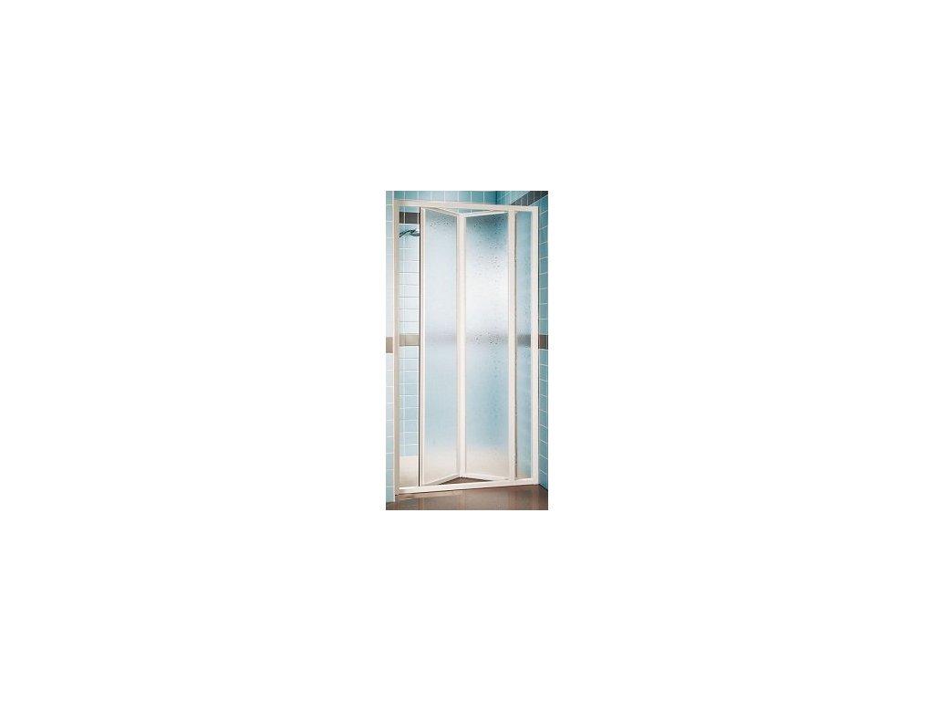 Ravak SDZ3 - 90 cm trojdielne sklápacie sprchové dvere číre sklo