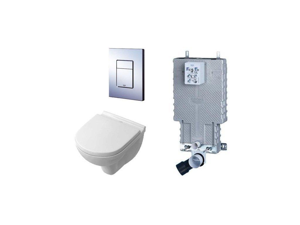 Villeroy & Boch - set - podomietková nádržka + tlačidlo + závesné WC + spomaľovacie sedadlo