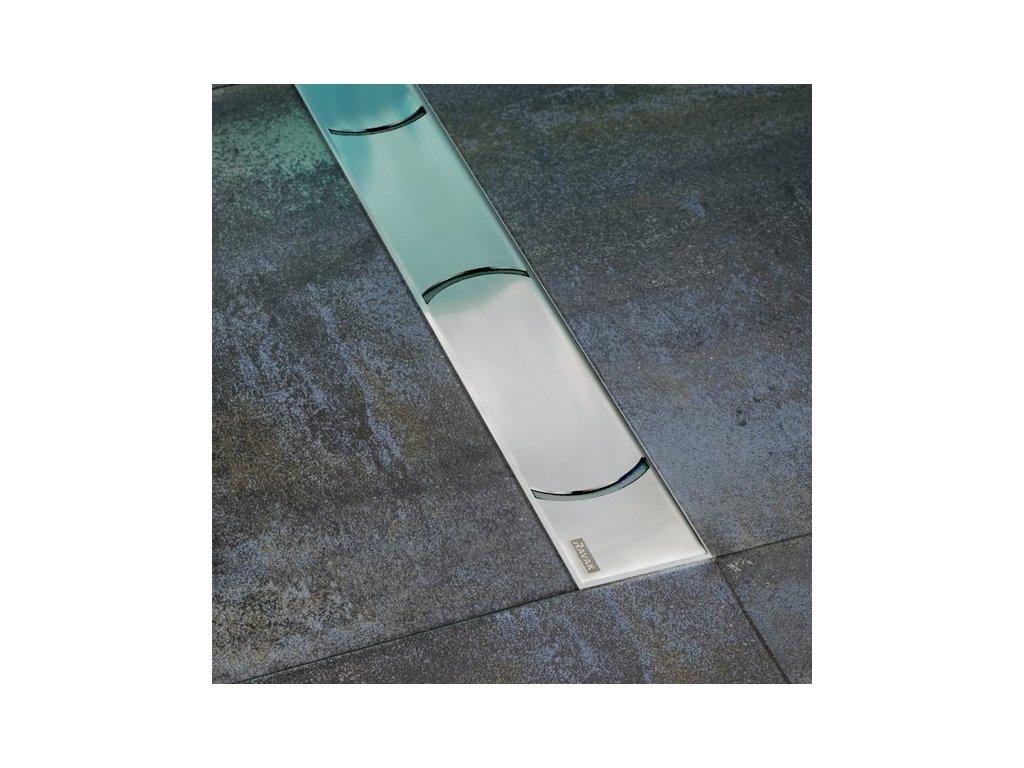 Ravak Chrome - 950 - nerezový sprchový žľab s mriežkou 95 cm
